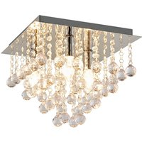 Ceiling lamp with hanging elements 32 x 32 cm