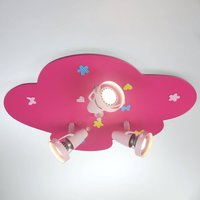 Little Cloud ceiling spotlight with floral pattern