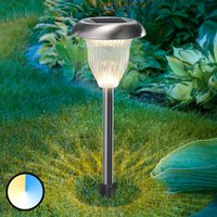 LED solar lamp Flower Light with duo colour