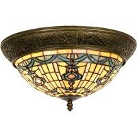 Round ceiling lamp Kimberly Tiffany style 38 cm