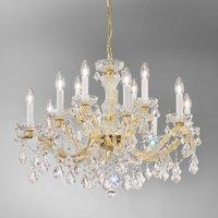 KOLARZ Maria Louise chandelier  24 ct gold 12 bulb