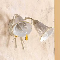2 bulb GOCCE wall light