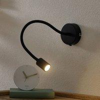 Flexible LED wall light Focus  black