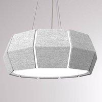 LOUM Decafelt LED pendant lamp acoustic grey  76cm