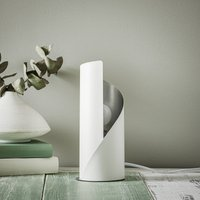Frank table lamp   white and silver
