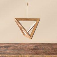 Trigonon LED hanging light in oiled oak