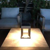 Teckalu LED solar table lamp  black light wood