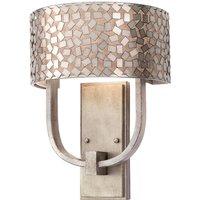 Confetti wall light in antique silver