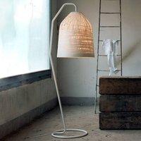 White designer floor lamp Black Out