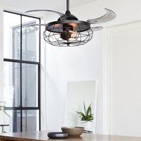 Fanaway Industri ceiling fan  light  black