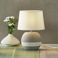 Creto table lamp with white fabric lampshade