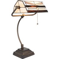 5193 desk lamp in a Tiffany design  cream