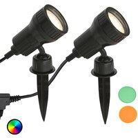 Image of 2er Set - LED-Erdspießleuchte Terra m. Farbfiltern