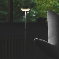 Shade  S1 floor lamp rings black base white Node