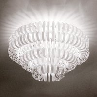 Glass ceiling light ECOS  white
