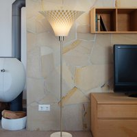 Flechtwerk   floor lamp with funnel lampshade