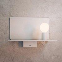 Rack wall light with shelf  white