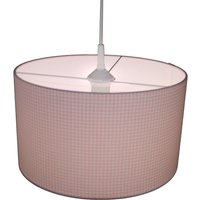 Vichykaro pendant lamp  pink white