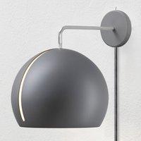 Nyta Tilt Globe Wall wall lamp with plug grey