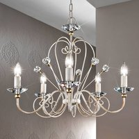 Timeless chandelier Rossana  five bulb