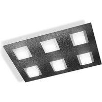 GROSSMANN Basic LED ceiling lamp 6 bulb anthracite