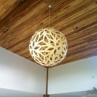 david trubridge Floral hanging lamp   80 cm white