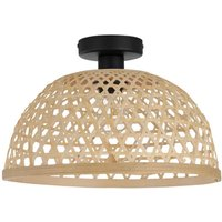 Claverdon ceiling light with natural woven shade