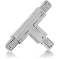 Eutrac T connector earth inside right  silver