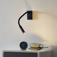 Cio LED wall light with reading arm   switch