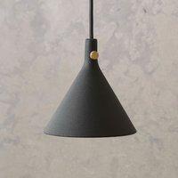 Menu Cast LED hanging light in black  shape 1