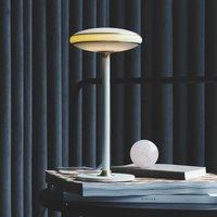 Shade  S1 LED table lamp rings brass  white base