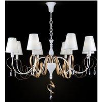 Intreccio chandelier  8 bulb  white