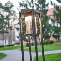 Zeitgemäße LED-Wegelampe Ferdinand, dunkelgrau