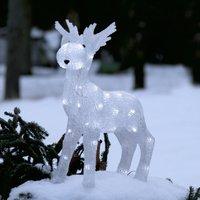 LED-Figur Crystalo Elch für außen