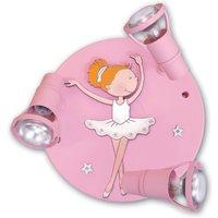 Ballerina ceiling light with three spotlights