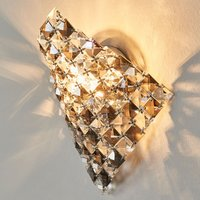 Unique wall light Sat n made of crystals  25 cm