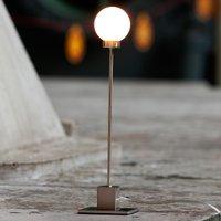 Minimalist table lamp Snowball  metallic