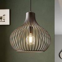 Cage pendant light Frances  brown  1 bulb   38 cm