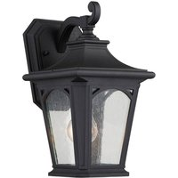 Black Bedford small outdoor wall lamp