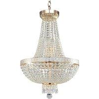 Bella chandelier with lavish hanging elements