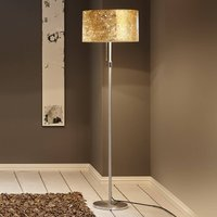 Alea Loop floor lamp with a gold leaf finish