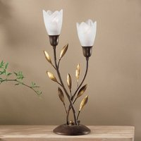 Floral table lamp CAMPANA