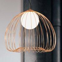 Levik pendant light with golden cage   38 cm