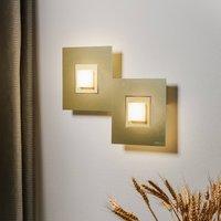 GROSSMANN Karree LED wall light  2 bulb champagne