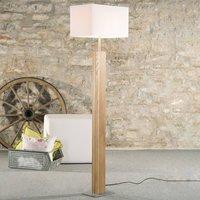 HerzBlut Miss Hilton floor lamp oiled oak  nickel