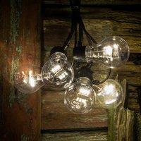 LED string lights filament warm white 5 bulb