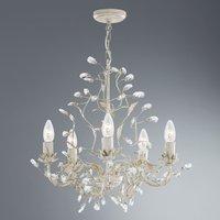 Almandite chandelier 5 bulb  cream gold