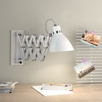Pull out metal wall light Kordian  white