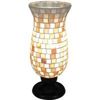 Lámpara de mesa Yara con pantalla de mosaico