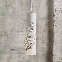 Designer LED hanging lamp Copodimonte  ceramics